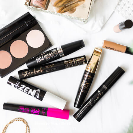Elevatest make-up and cosmetic products on a table